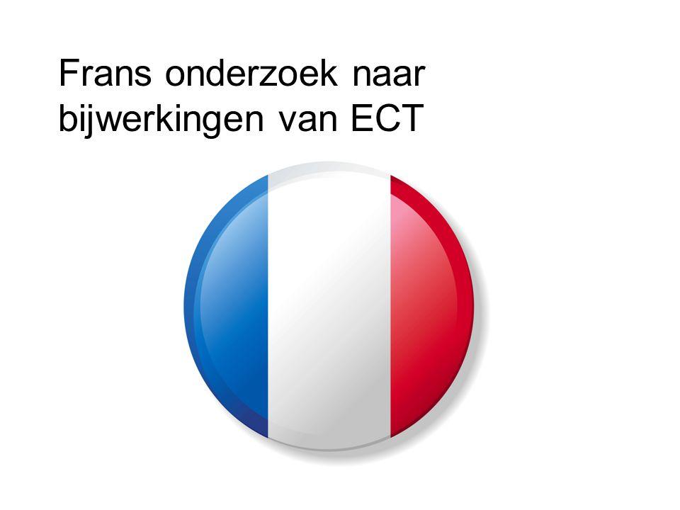 Frans onderzoek naar bijwerkingen van ECT