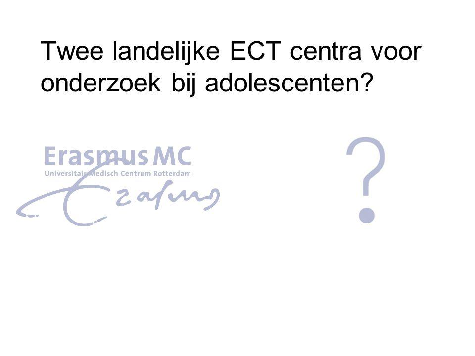 Twee landelijke ECT centra voor onderzoek bij adolescenten?