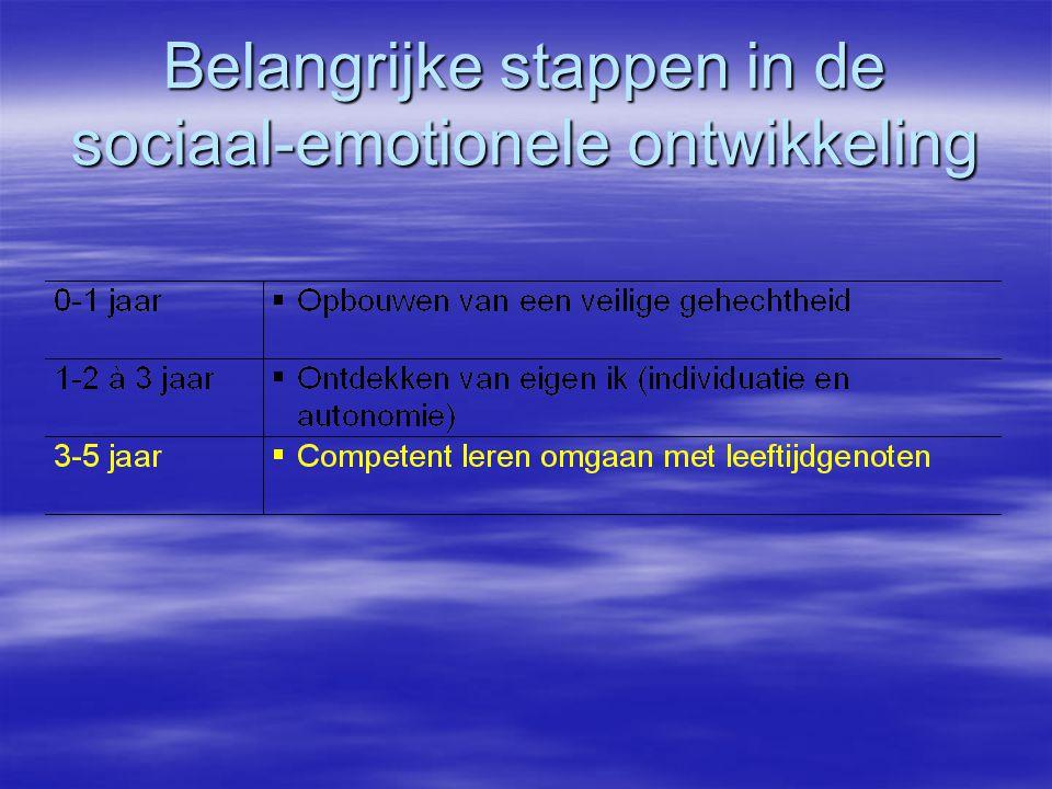 Belangrijke stappen in de sociaal-emotionele ontwikkeling