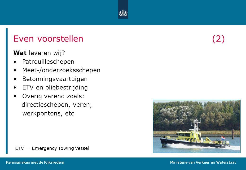 Kennismaken met de Rijksrederij Ministerie van Verkeer en Waterstaat Waarom Marktverkenning.