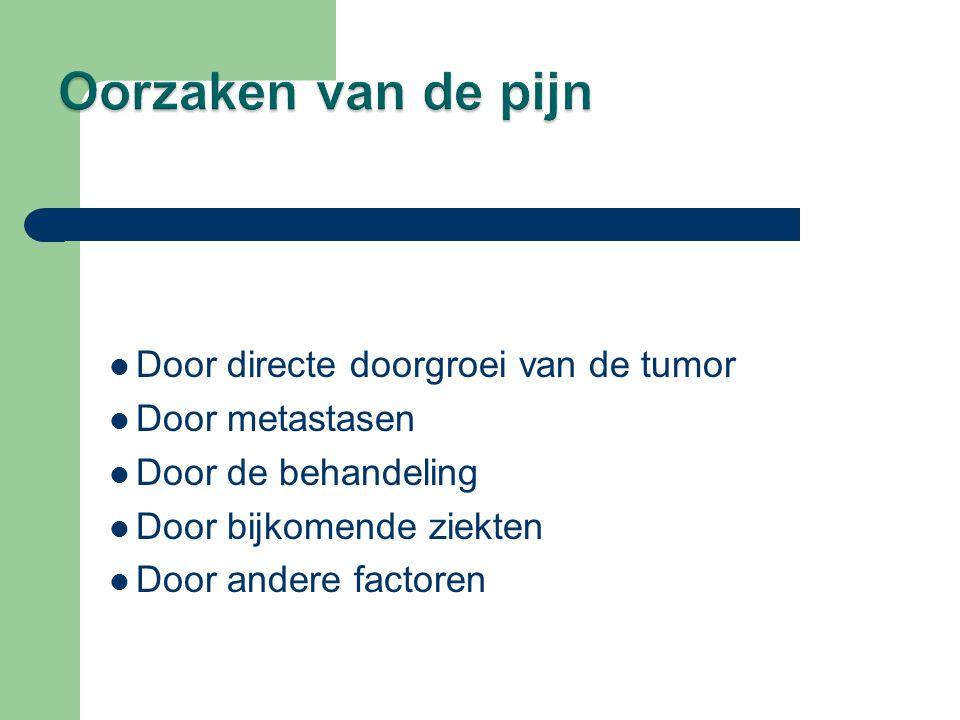  Door directe doorgroei van de tumor  Door metastasen  Door de behandeling  Door bijkomende ziekten  Door andere factoren