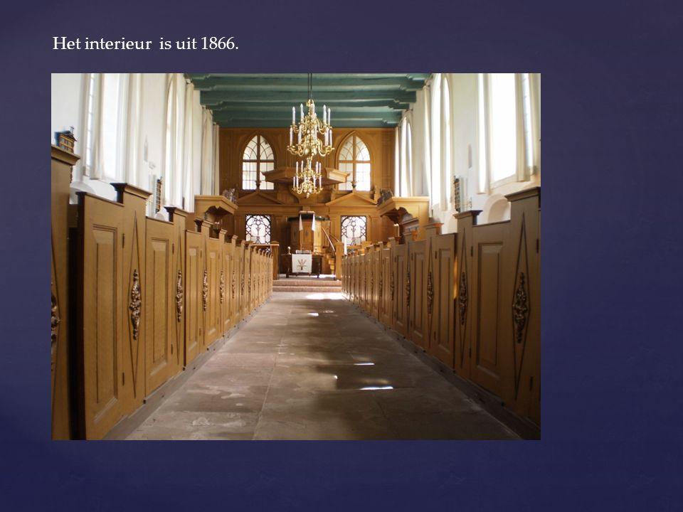 Het interieur is uit 1866.