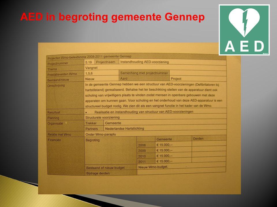 AED in begroting gemeente Gennep