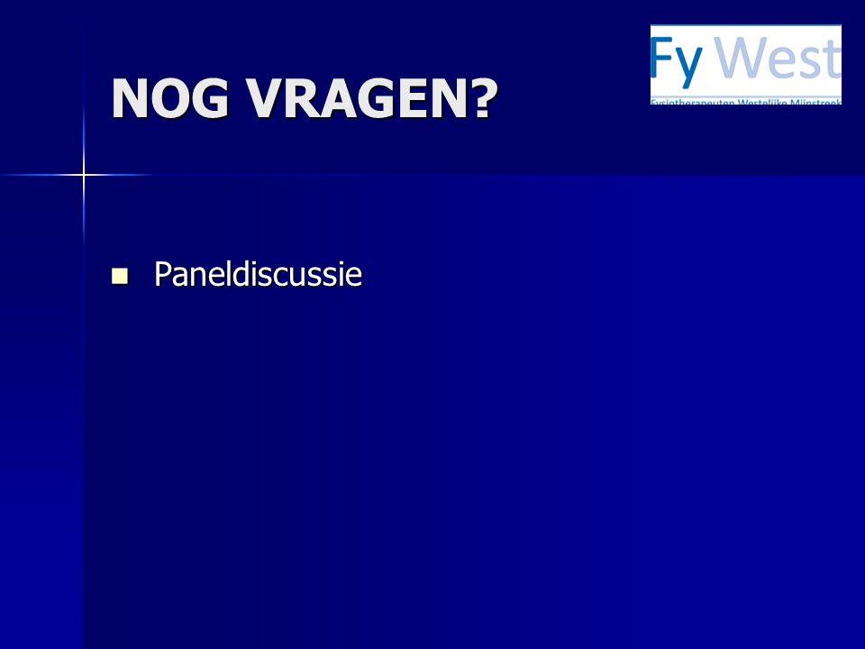 NOG VRAGEN  Paneldiscussie