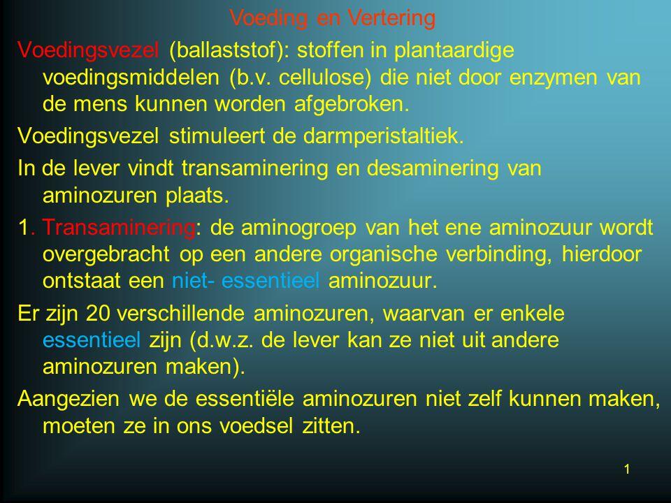 Voedingsvezel (ballaststof): stoffen in plantaardige voedingsmiddelen (b.v.