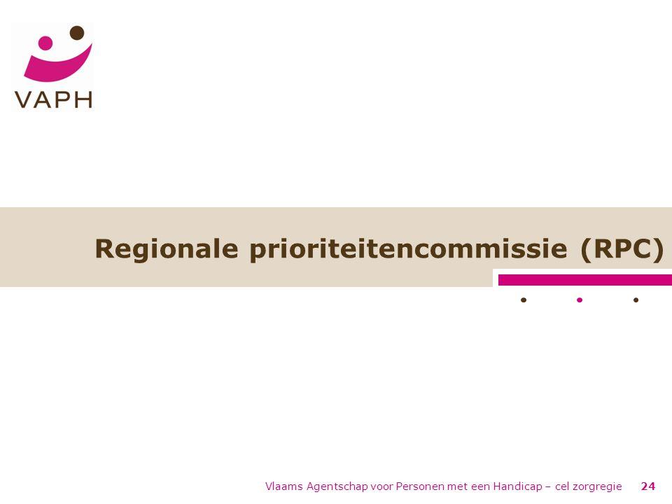 Regionale prioriteitencommissie (RPC) Vlaams Agentschap voor Personen met een Handicap – cel zorgregie24