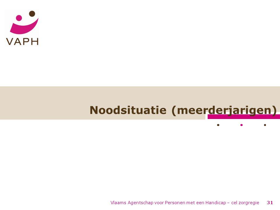 Noodsituatie (meerderjarigen) Vlaams Agentschap voor Personen met een Handicap – cel zorgregie31