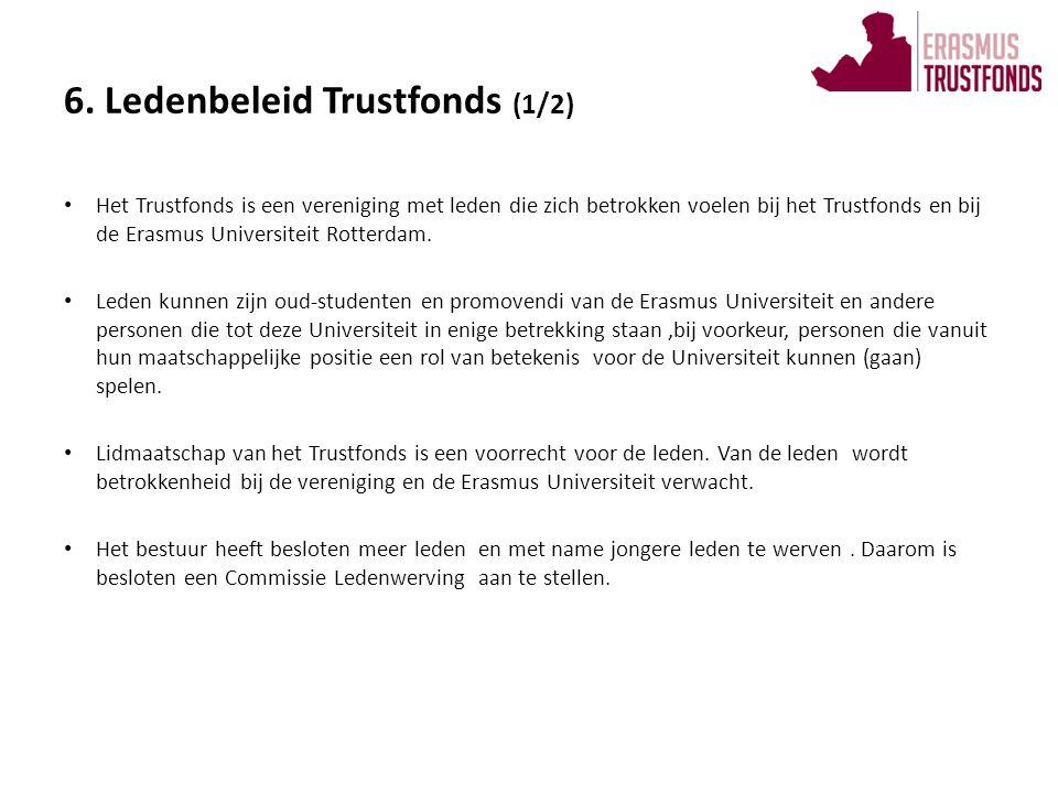• Het Trustfonds is een vereniging met leden die zich betrokken voelen bij het Trustfonds en bij de Erasmus Universiteit Rotterdam. • Leden kunnen zij