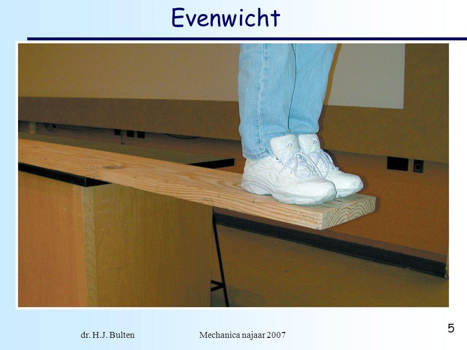 dr. H.J. Bulten Mechanica najaar 2007 5 Evenwicht