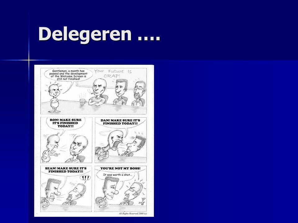 Delegeren ….