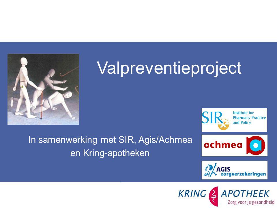 In samenwerking met SIR, Agis/Achmea en Kring-apotheken Valpreventieproject