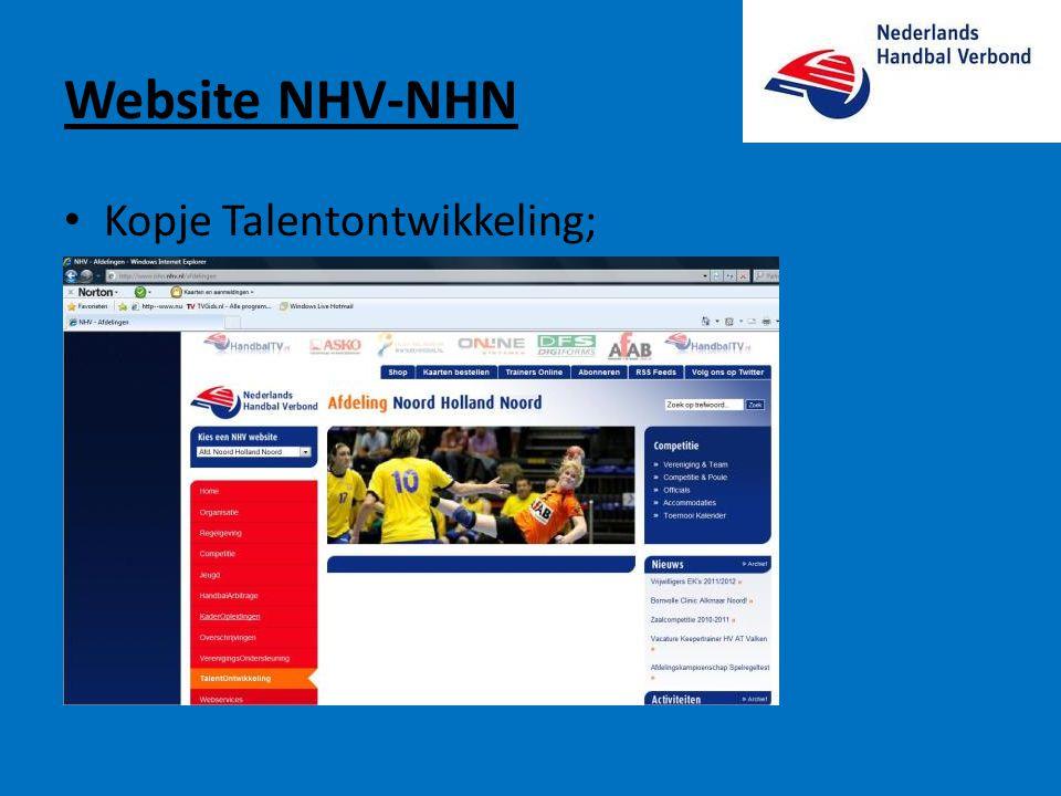 Website NHV-NHN • Kopje Talentontwikkeling;