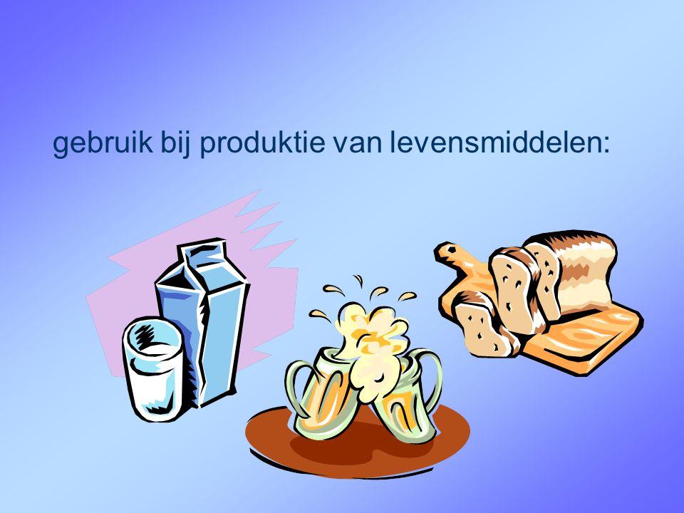 gebruik bij produktie van levensmiddelen:
