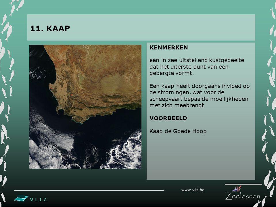 V L I Z www.vliz.be Zeelessen KENMERKEN een in zee uitstekend kustgedeelte dat het uiterste punt van een gebergte vormt.