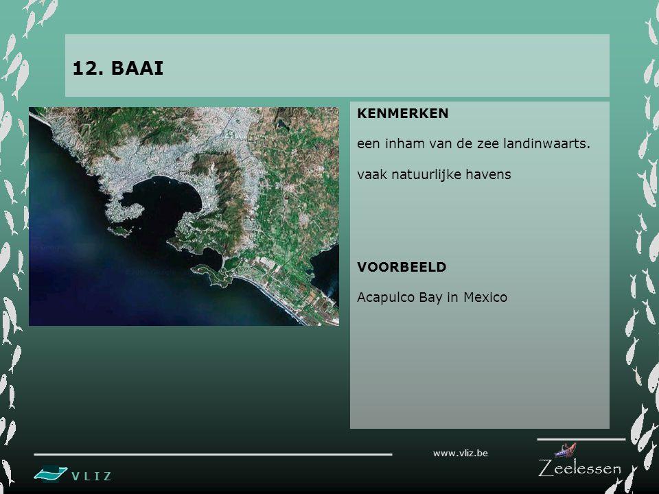V L I Z www.vliz.be Zeelessen KENMERKEN een inham van de zee landinwaarts.