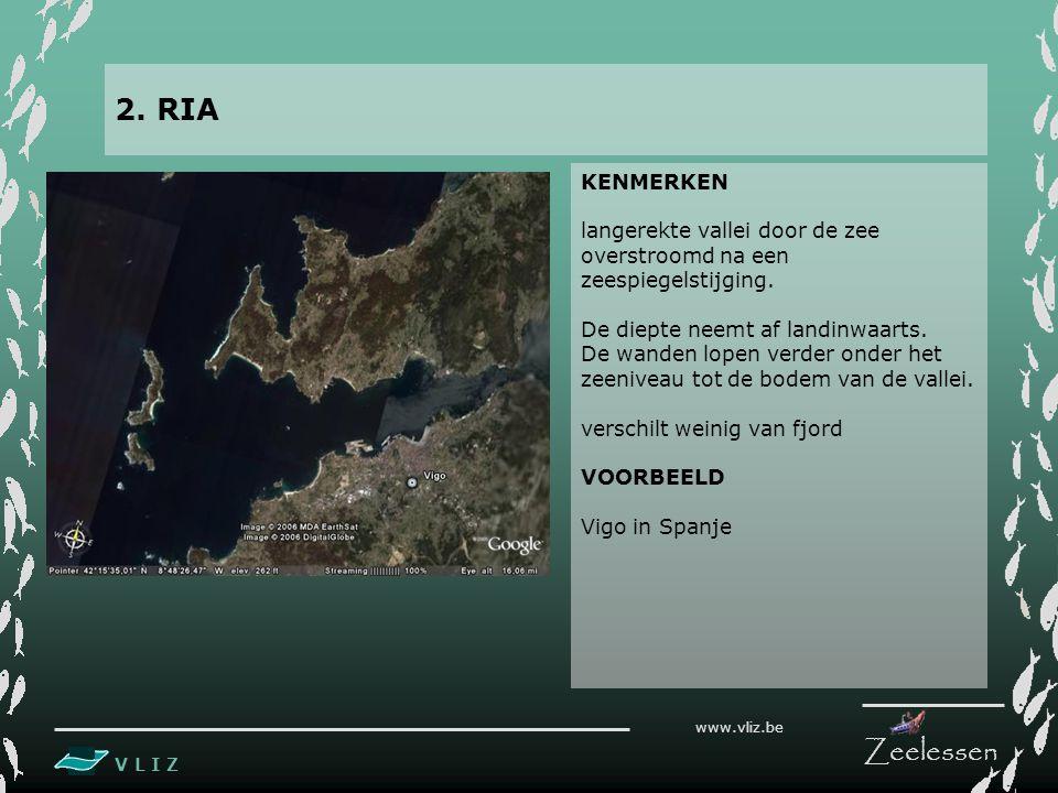 V L I Z www.vliz.be Zeelessen KENMERKEN langerekte vallei door de zee overstroomd na een zeespiegelstijging.