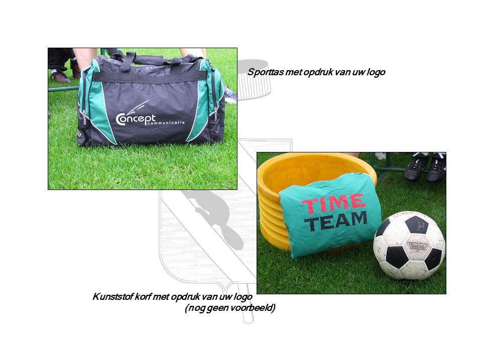 Sporttas met opdruk van uw logo Kunststof korf met opdruk van uw logo (nog geen voorbeeld)