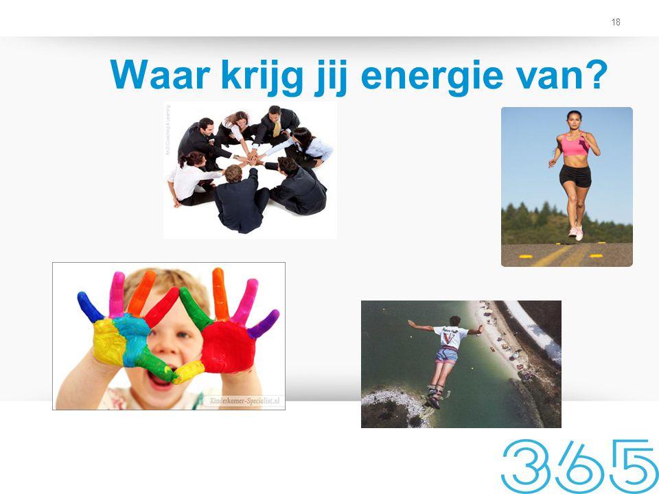 18 Waar krijg jij energie van?