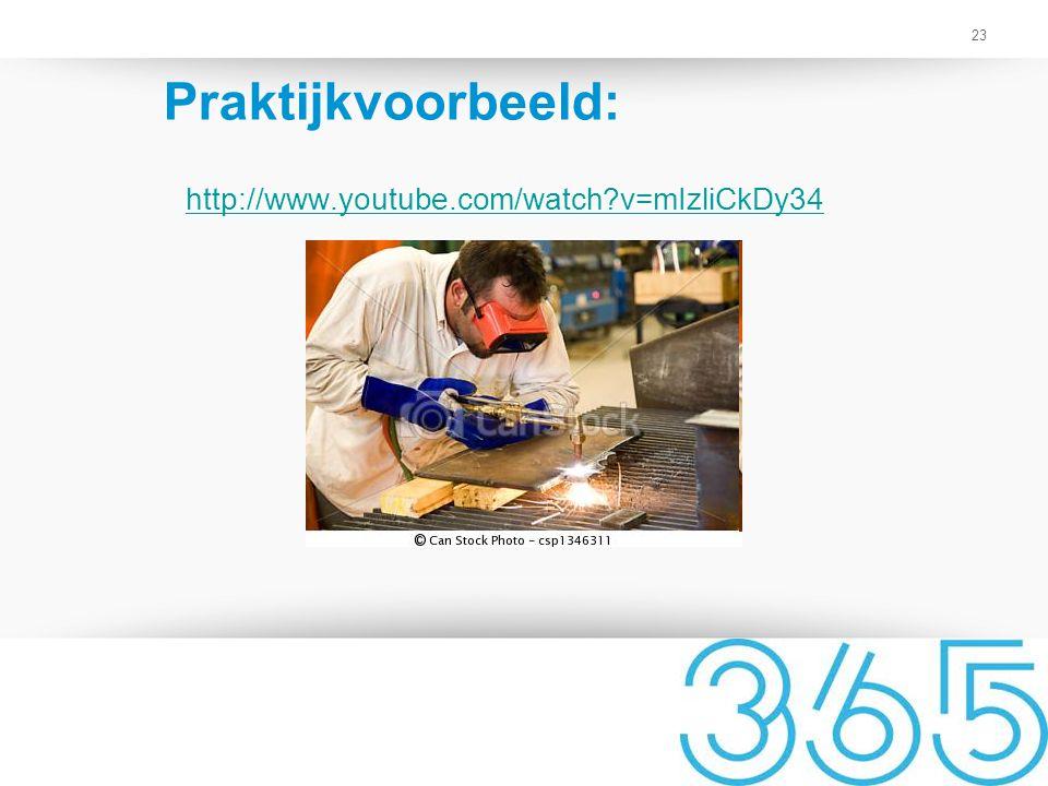 23 Praktijkvoorbeeld: http://www.youtube.com/watch?v=mIzliCkDy34