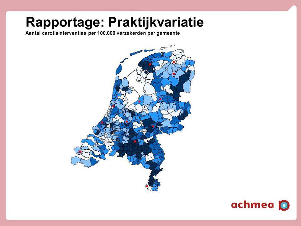 Rapportage: Praktijkvariatie Aantal carotisinterventies per 100.000 verzekerden per gemeente