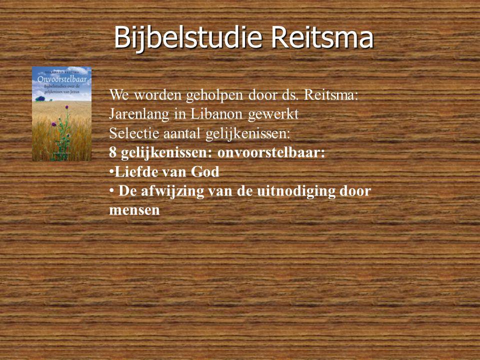 Bijbelstudie Reitsma We worden geholpen door ds.