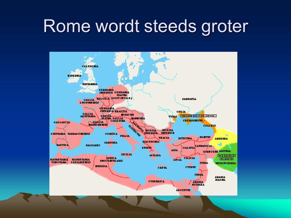 Rome wordt steeds groter