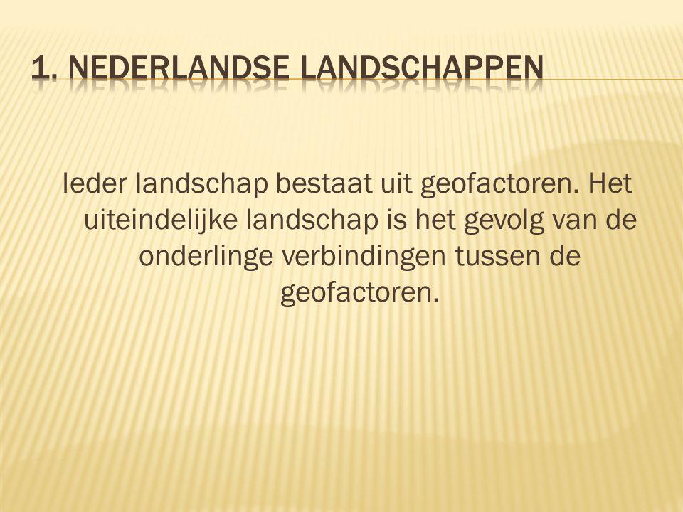 Ieder landschap bestaat uit geofactoren. Het uiteindelijke landschap is het gevolg van de onderlinge verbindingen tussen de geofactoren.