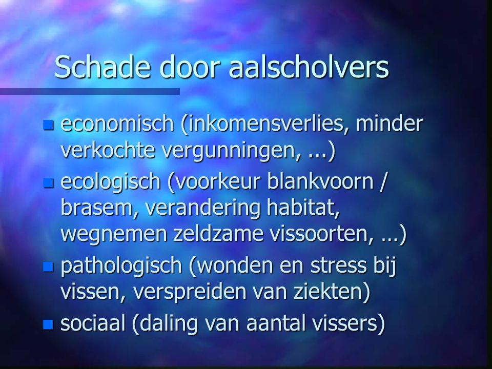 Het voorkomen of compenseren van aalscholverschade in Vlaanderen n n 1.
