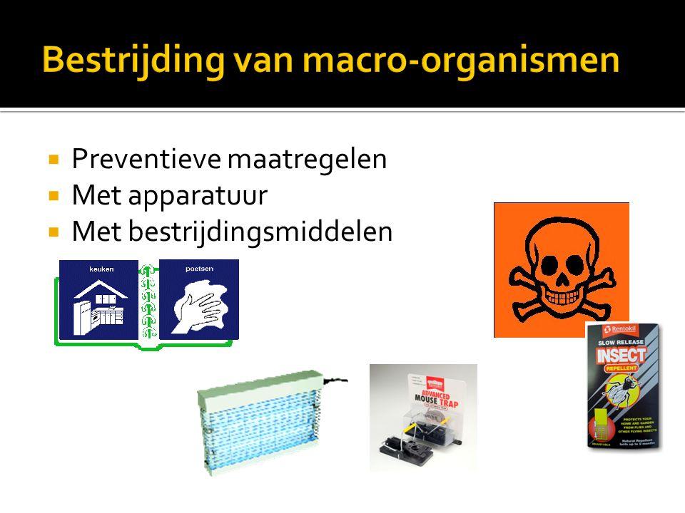  Preventieve maatregelen  Met apparatuur  Met bestrijdingsmiddelen