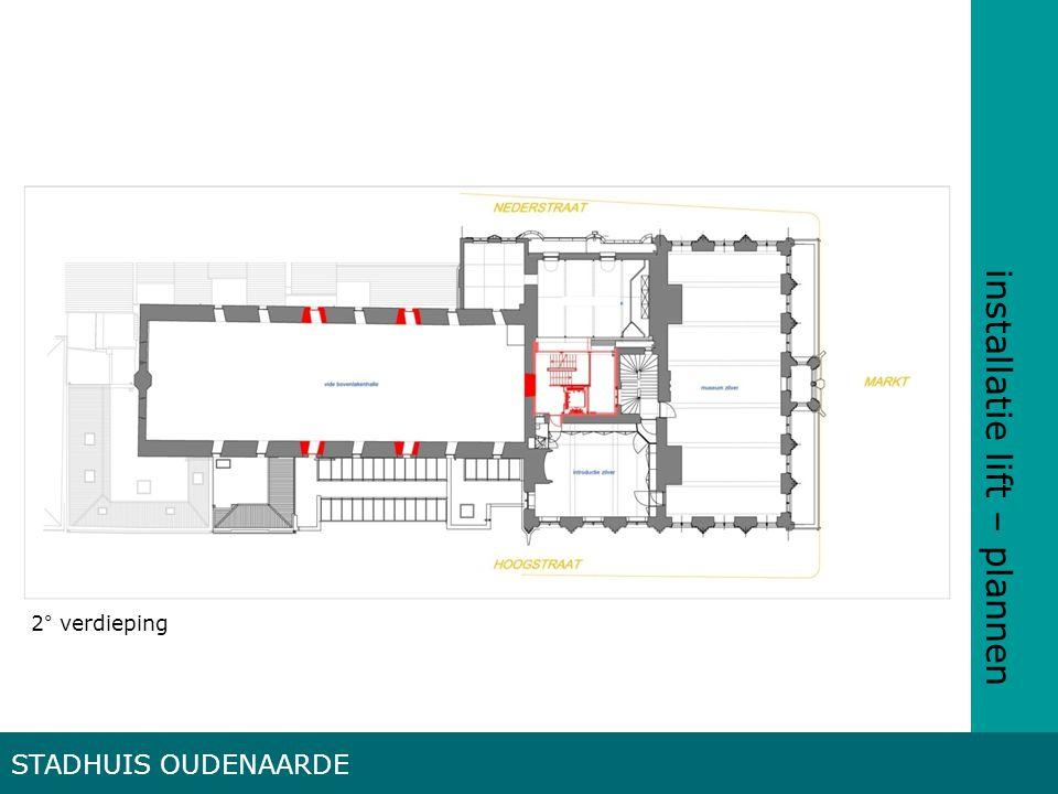 installatie lift – plannen STADHUIS OUDENAARDE 2° verdieping