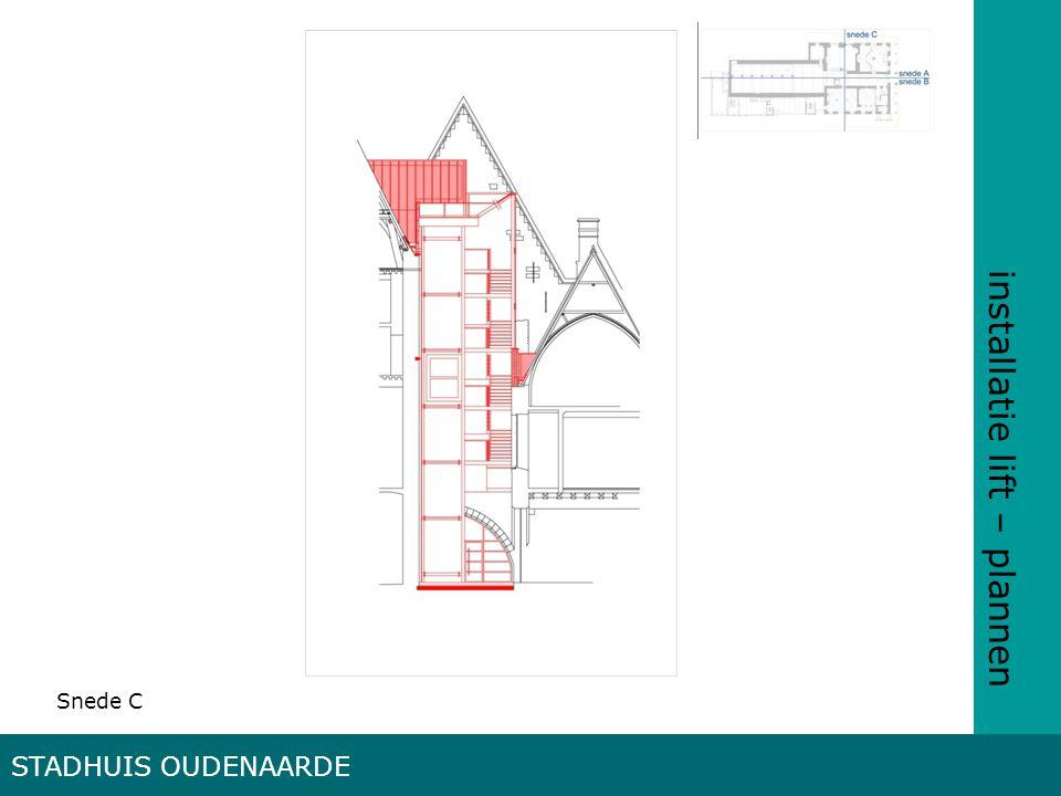 installatie lift – plannen STADHUIS OUDENAARDE Snede C