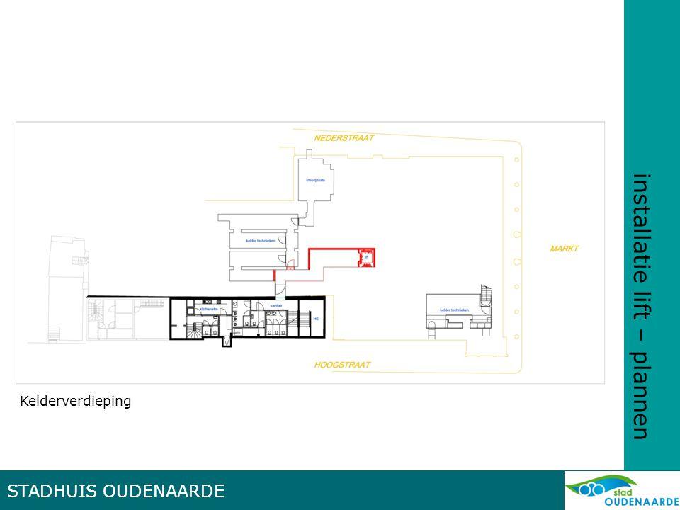installatie lift – plannen STADHUIS OUDENAARDE Gelijkvloers
