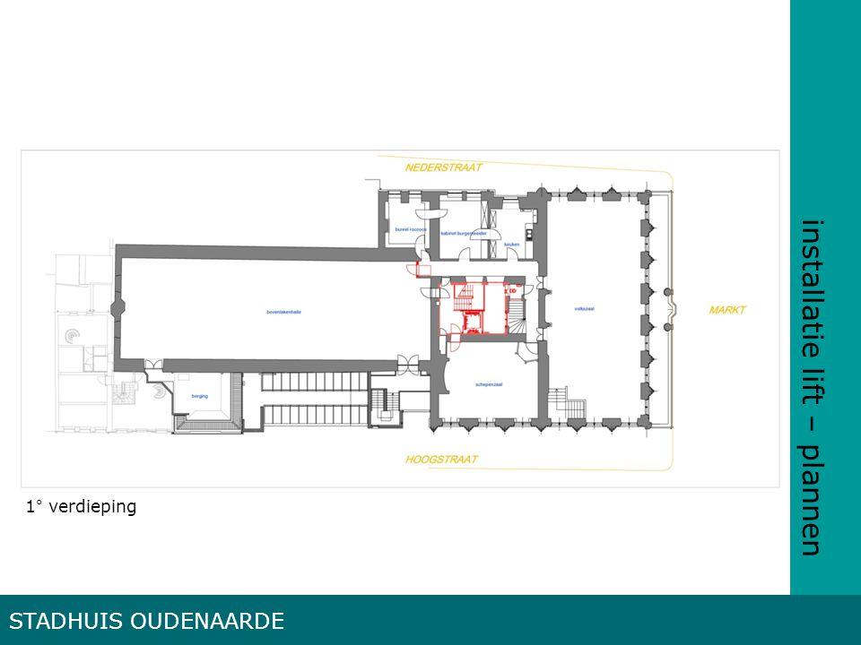 installatie lift – plannen STADHUIS OUDENAARDE 1° verdieping
