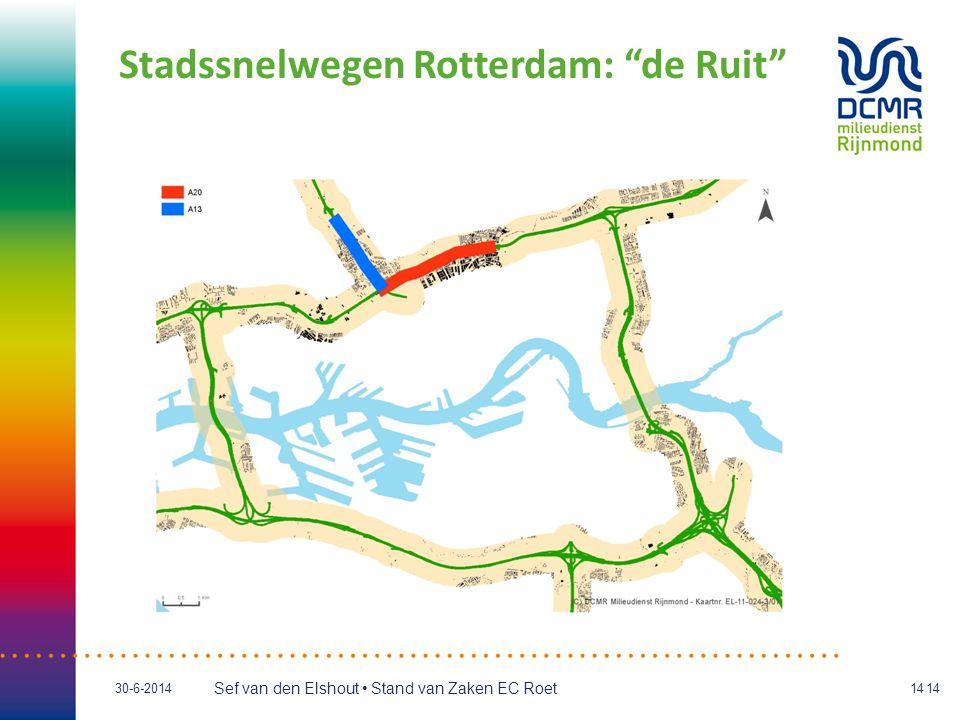 """Sef van den Elshout • Stand van Zaken EC Roet 30-6-201414 Stadssnelwegen Rotterdam: """"de Ruit"""""""