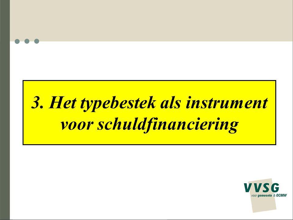 3. Het typebestek als instrument voor schuldfinanciering
