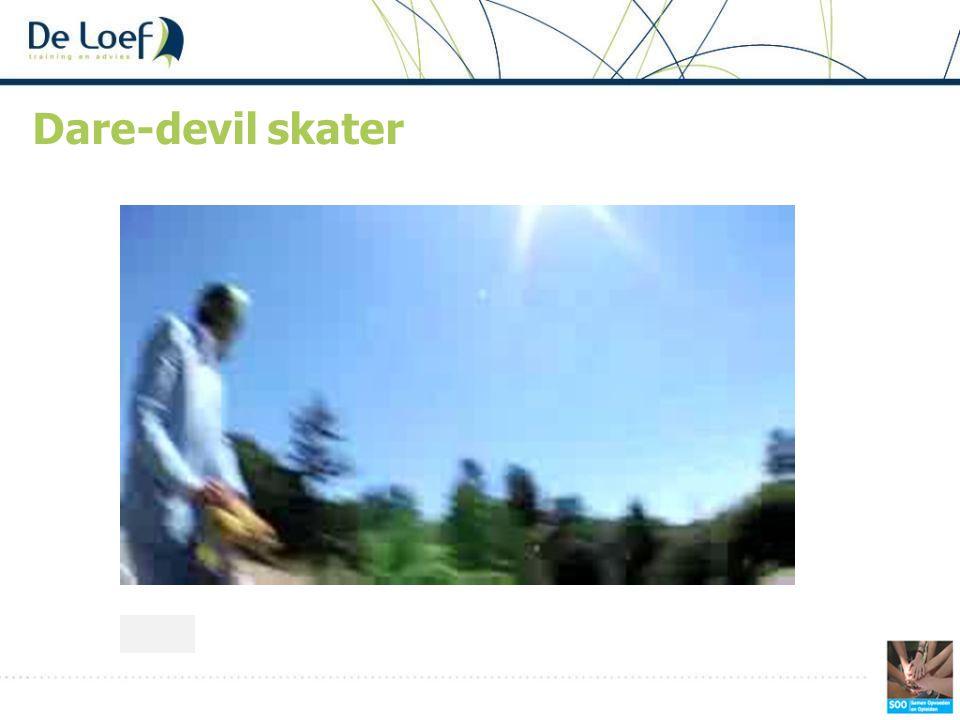 Dare-devil skater