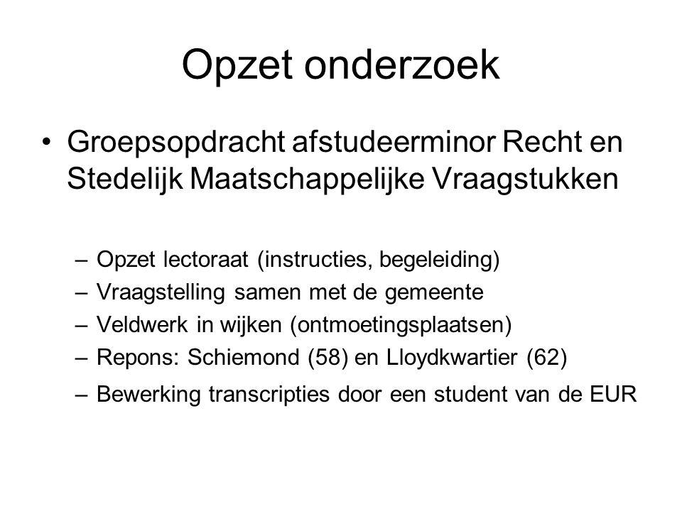 Bereidheid tot ondersteuning gemeente bewoners Schiemond De helft van de respondenten wil meewerken aan schoon en heel in de wijk.