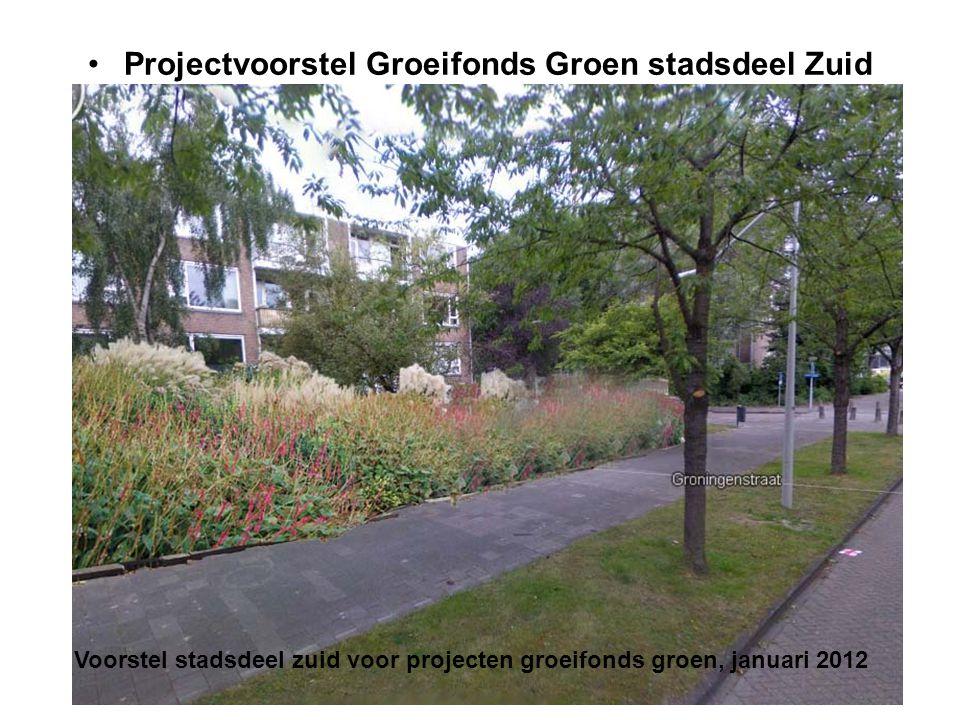•Projectvoorstel Groeifonds Groen stadsdeel Zuid Voorstel stadsdeel zuid voor projecten groeifonds groen, januari 2012