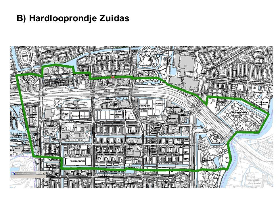 Idee: Aanleggen van bewegwijzering voor hardlooproutes door het groen rondom Zuidas Achtergrond: Het Amstelpark, Beatrixpark en Gijsbrecht van Aemstelpark liggen allen in de nabijheid van de Zuidas en lenen zich uitstekend voor een hardlooproute.