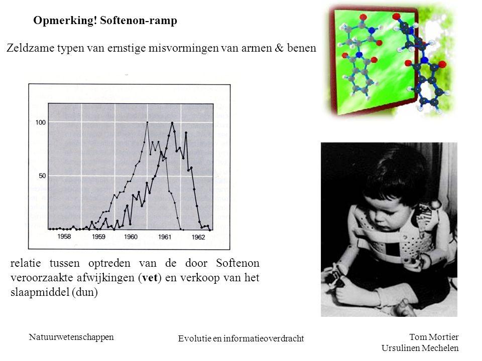 Tom Mortier Ursulinen Mechelen Natuurwetenschappen Evolutie en informatieoverdracht Opmerking! Softenon-ramp Zeldzame typen van ernstige misvormingen