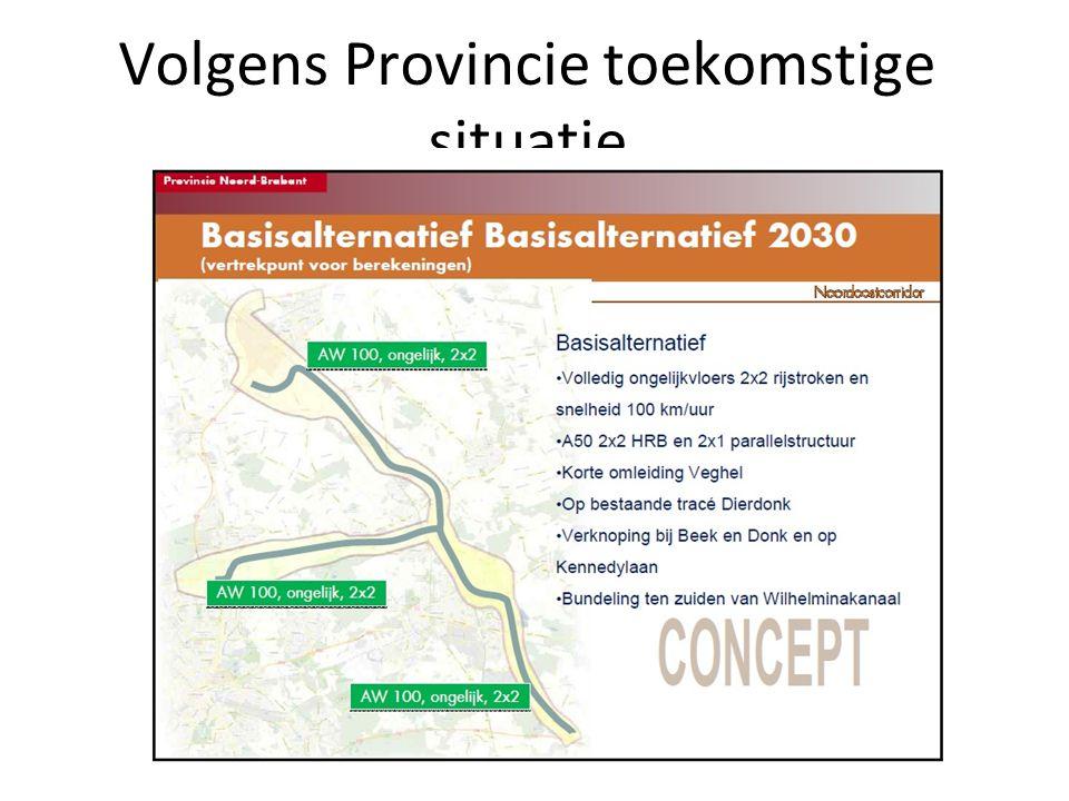 Volgens Provincie toekomstige situatie