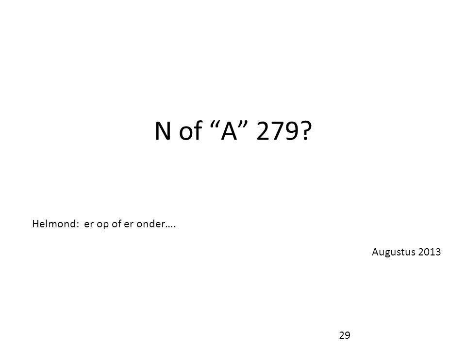 """N of """"A"""" 279? Helmond: er op of er onder…. Augustus 2013 29"""
