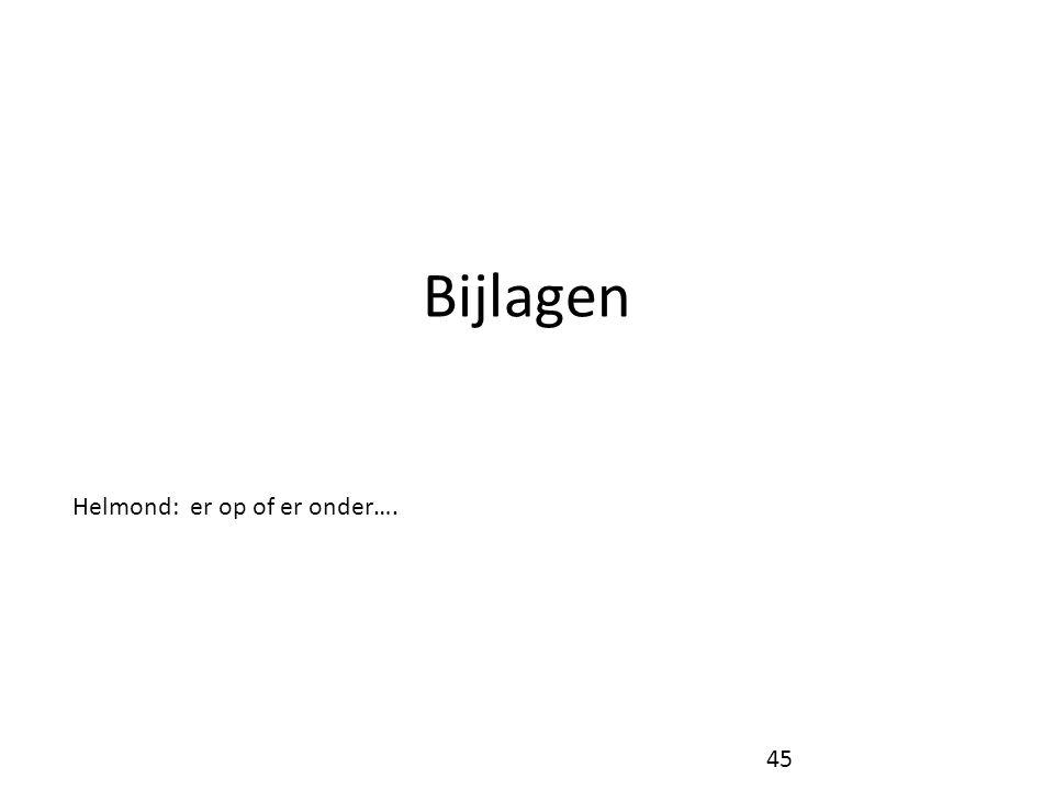 Bijlagen Helmond: er op of er onder…. 45
