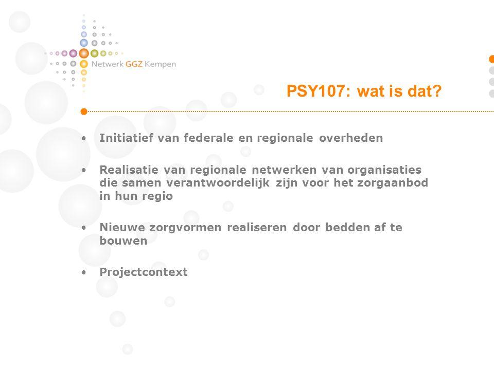 •Initiatief van federale en regionale overheden •Realisatie van regionale netwerken van organisaties die samen verantwoordelijk zijn voor het zorgaanb