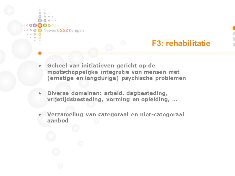 •Geheel van initiatieven gericht op de maatschappelijke integratie van mensen met (ernstige en langdurige) psychische problemen •Diverse domeinen: arb