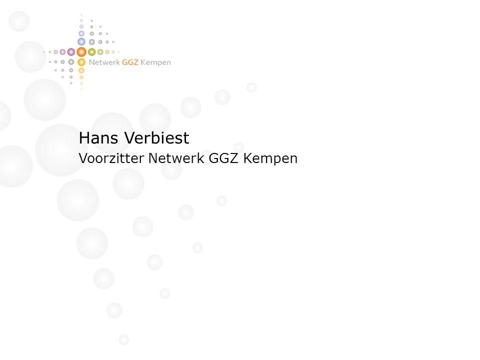Hans Verbiest Voorzitter Netwerk GGZ Kempen