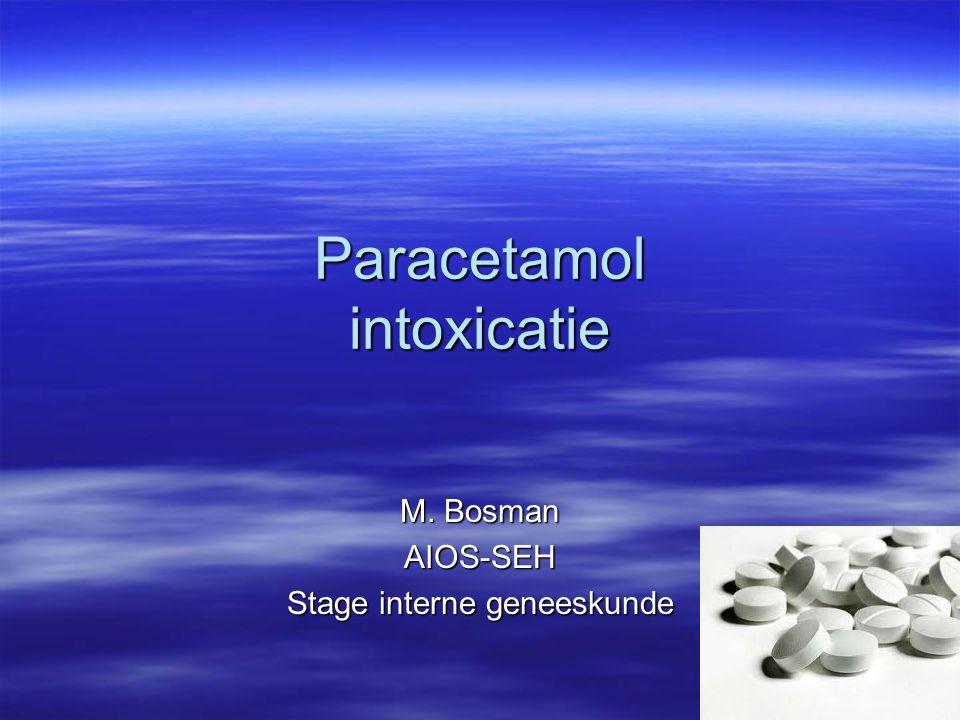 M. Bosman AIOS-SEH Stage interne geneeskunde Paracetamol intoxicatie