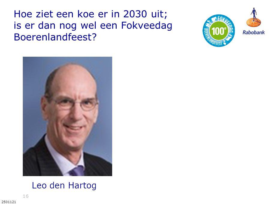 16 2501121 Hoe ziet een koe er in 2030 uit; is er dan nog wel een Fokveedag Boerenlandfeest? Leo den Hartog