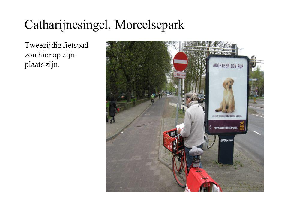 Catharijnesingel, Moreelsepark Tweezijdig fietspad zou hier op zijn plaats zijn.