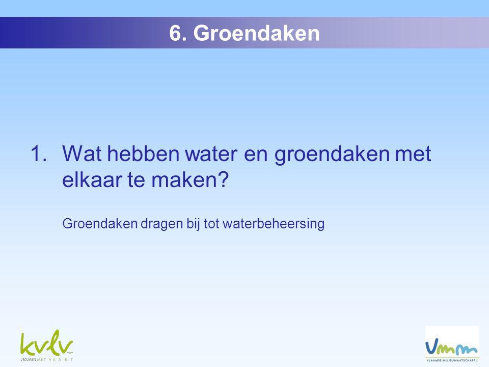 2. Hoeveel hemelwater kan een groendak ophouden? a)Tot 90% b)10% c)50% 6. Groendaken